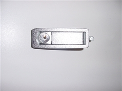 Trigger Latch, Locking, Textured Chrome