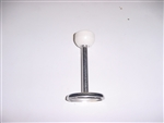 "Door Holder, Stainless 4"" Plunger with White Nylon Receiver"