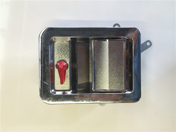 Tri Mark Paddle Handle Chrome Interior Red Thumb Latch