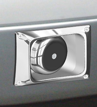 '05-'07 F-series Through Bumper Speaker, Passenger Side, Polished