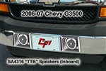 '06-Up Chevrolet Express Van Thru-Bumper Speakers