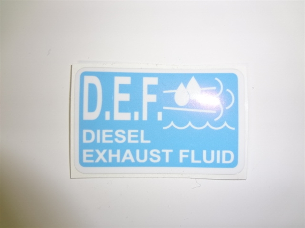 License Plate Holders >> Diesel Exhaust Fluid Decal