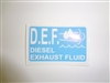 Diesel Exhaust Fluid Decal