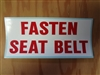 Fasten Seatbelt Decal