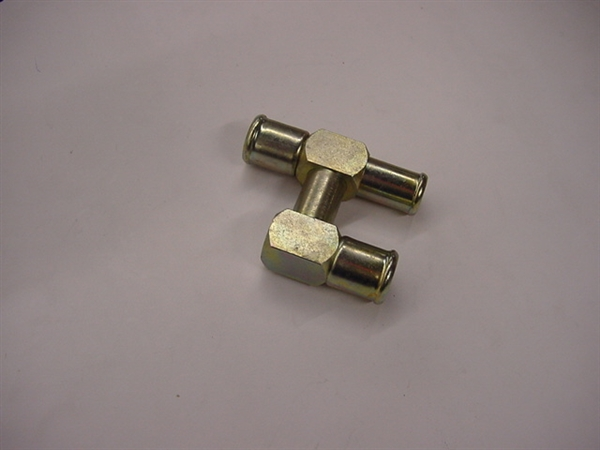 "Hoseline ""h"" water fitting, 3/4"" x 3/4"" x 5/8"""