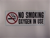 "3.5"" x 10"" No Smoking Decal"