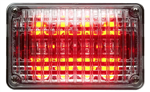 Whelen 400 Series Linear Red Super-LED, Red Lens