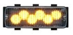 Whelen 500 Series TIR6 Amber Super-LED, Clear Lens