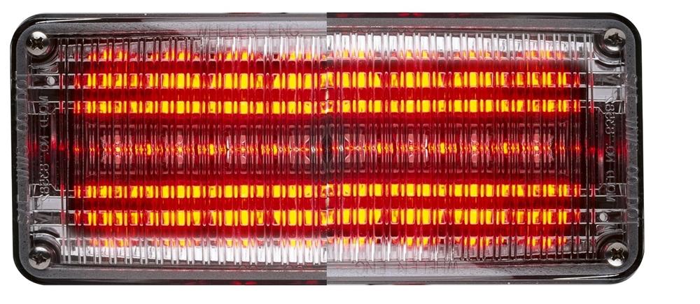 Whelen 700 Series Linear Super Red Led Clear Lens