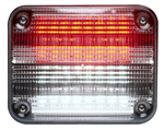 Whelen 900 Series Linear Super Red/Clear Split LED, Clear Lens
