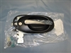 Wheeled Coach Oval Door Handle, Black & Chrome (Entry)