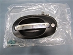 Wheeled Coach Oval Door Handle, Black & Chrome (Compartment)