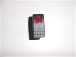 On-Off Switch, (1 light), Black Actuator