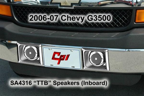 06 Up Chevrolet Express Van Thru Bumper Speakers