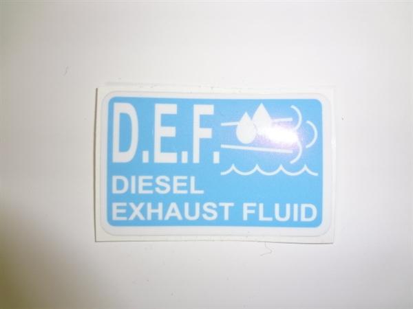 Diesel Exhaust Fluid Decal