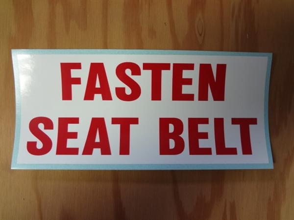 Fasten Seatbelt Decal